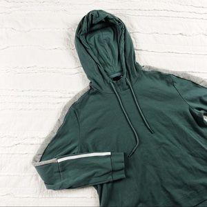 Adidas | teal cropped hoodie